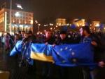У Києві тисячі прихильників евроинтеграции провели на Майдані всю ніч